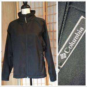 Columbia Black Shell Style Full Zip Jacket Sz L
